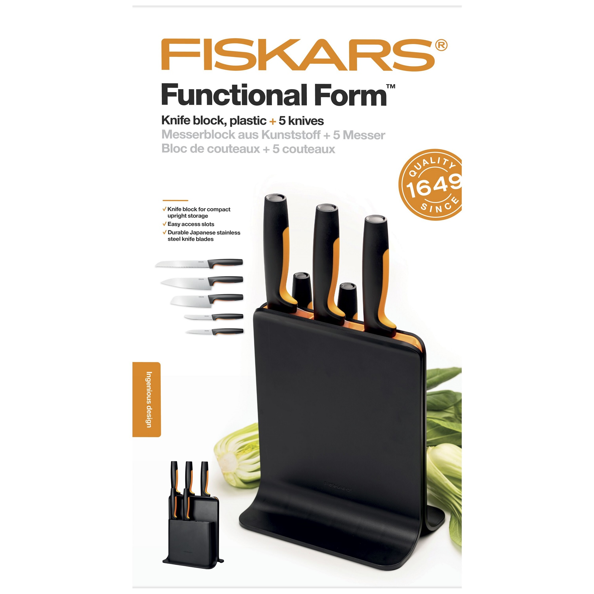 Fiskars FF nugadealus 5 noaga