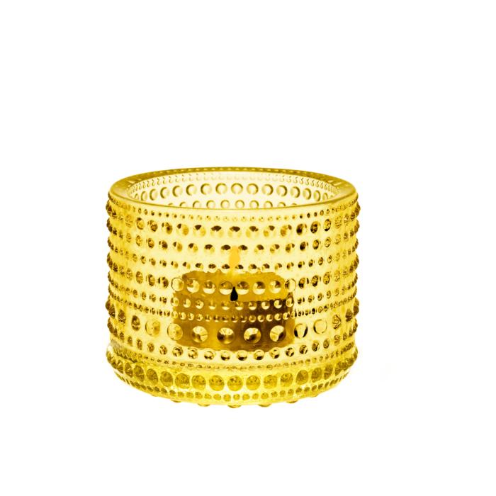 Iittala Kastehelmi küünlaalus 64 mm kollane